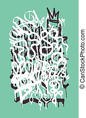 Backgraund Graffiti Tag - Vector fashion graffiti font....