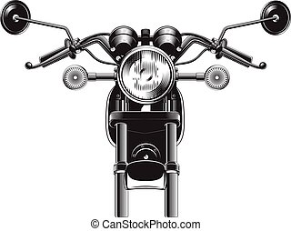 Chopper motorcycle front side. - Chopper motorcycle front...