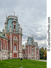 Tsaritsyno park, Moscow - The grand palace in Tsaritsyno...