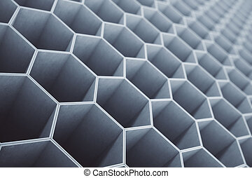 Concrete honeycomb, hexagon pattern background or wallpaper....