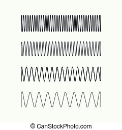 Coil spring vector icon. - Set coil spring vector icon....