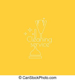 Vector icon hand brooms. - Vector icon hand brooms and...