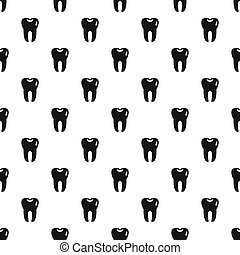 Tooth pattern, simple style - Tooth pattern. Simple...