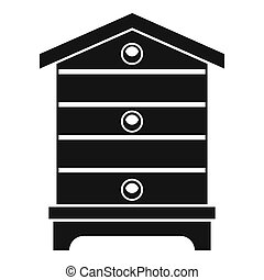 Hive icon, simple style - Hive icon. Simple illustration of...