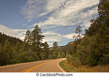 Northern New Mexico highway - View of Northern New Mexico...