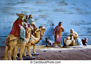 the three kings and the holy family - the three kings on...