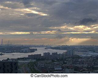 View over Rotterdam, Netherlands