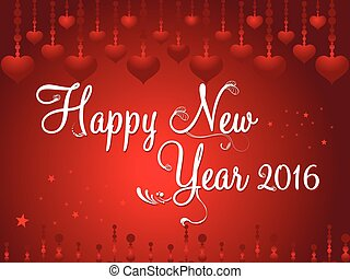 Abstract artistic new year text vector illustration