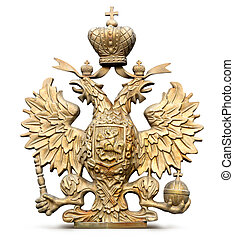 Brass double-headed eagle symbol of Russia - photo Brass...