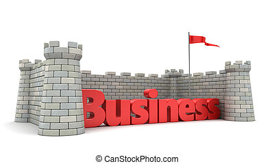 business protection - 3d illustration of business protection...