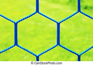 Gate net for small football or handball in small outdoor...