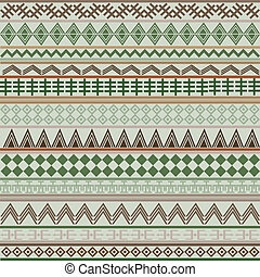 Background with geometrical shapes in brown and green tones