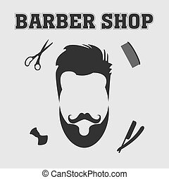 barber shop - Vector collection of barber shop hair saloon -...