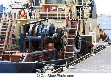 Backside of tug