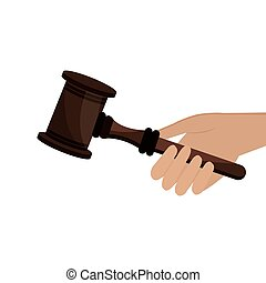 gavel judge isolated icon vector illustration design