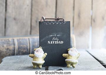Feliz Navidad card - Merry Christmas card with greetings in...