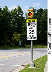 Solar Powered School Speed Limit Sign - A Solar Powered...