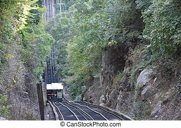 The Lookout Mountain Incline Railway in Chattanooga,...