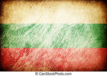 Grunge rubbed flag series of backgrounds. Bulgaria.