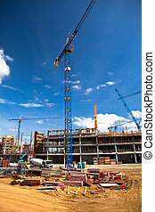 Construction site of football stadium in Wroclaw....