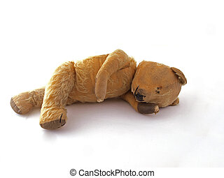 1950 teddy bear having a lay down