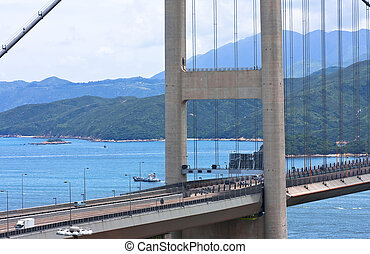 Tsing Ma Bridge in Hong Kong.