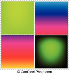 Collection of gradient vibrant color smooth silk background...