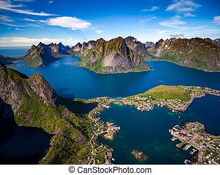 Lofoten archipelago islands - Lofoten islands is an...