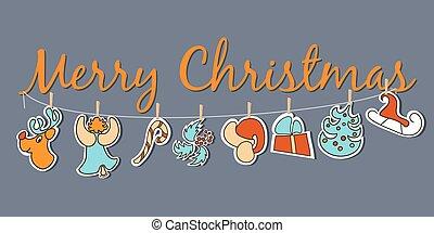Christmas banner. Cozy Christmas poster set - Cozy Christmas...