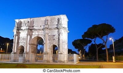 Triumphal Arch of Constantine at dawn. Rome. Italy