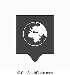 Europa, globo,  áfrica, aislado,  tooltip, regiones,  Asia, mundo