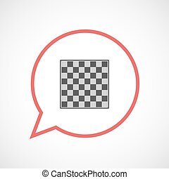 Isolated balloon with  a chess board