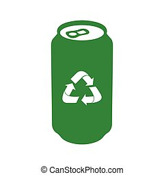 Isolated recyclable icon - Isolated recyclable can on a...