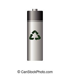 Isolated recyclable icon - Isolated recyclable battery on a...