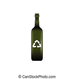 Isolated recyclable icon - Isolated recyclable bottle on a...