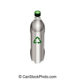 Isolated recyclable icon - Isolated plastic bottle with a...