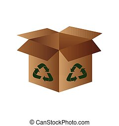 Isolated recyclable icon - Isolated box with a recyclable...