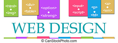 Web Design Colorful Background On Top