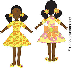 Afro doll in yellow dress