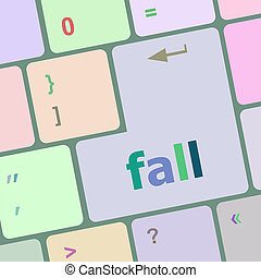 fall button on computer pc keyboard key