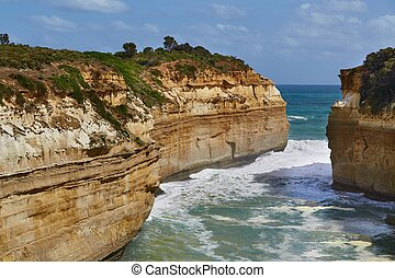 Great Ocean Road, Port Campbell - Coastal landscape of Port...