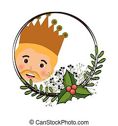 happy epiphany card manger character vector illustration...