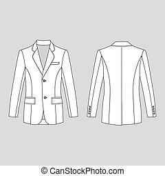 Man's buttoned jacket - Long sleeve man's buttoned jacket...