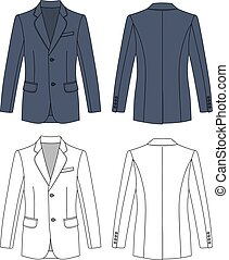 Man's buttoned jacket - Long sleeve man's buttoned gray...