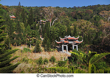 Temple of Nirvana Buddha on Ta Cu mountain Linh Son Truong...