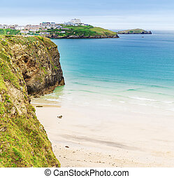 St Agnes and Chapel Porth Atlantic ocean, Cornwall - Popular...
