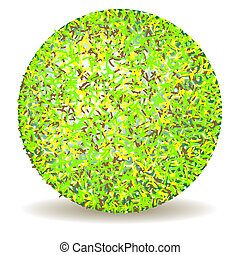 hairy abstract ball against white background, art...