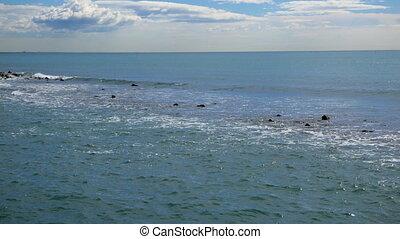 Surf. Tyrrhenian Sea. Ostia, Italy. UltraHD (4K)