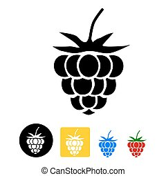 Raspberry icon - isolated on a white backgroun
