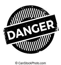 Danger stamp - Danger rubber stamp. Grunge design with dust...